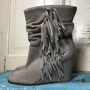 Steve Madden Mohavee Leather Suede Fringe Boots